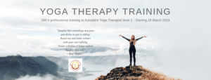 YOGA THERAPY TRAINING 2019-2020