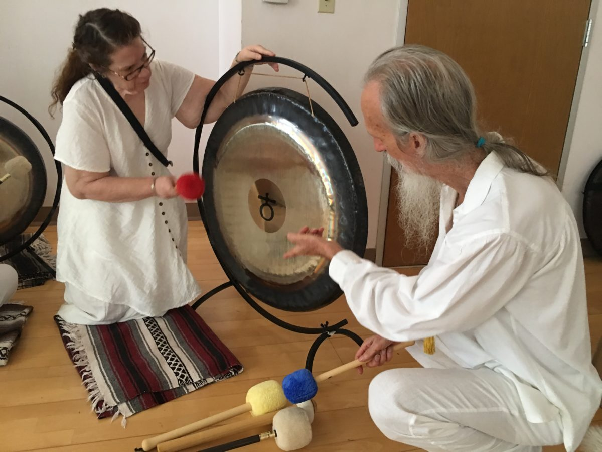 How to play the Gong with Mehtab Benton