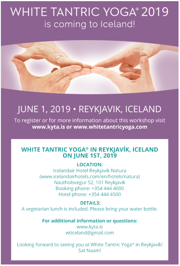 White Tantric Yoga in Iceland